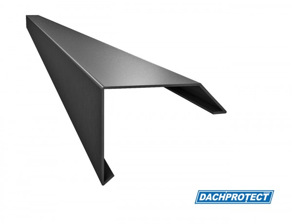 Dachrandprofil ISOS, 195cm, Anthrazit RAL 7016 stranggepresst, Materialstärke: 1,5 mm