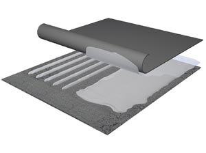 Dachaufbau Bitumen
