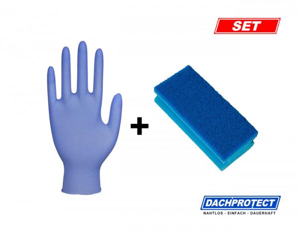 Schwamm inkl. Nitril-Handschuh zum Auftrag von DACHPROTECT EPDM Aktivierung (Nachbestellung)