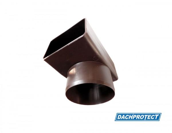 DACHPROTECT Seitenablaufadapter 90° (Rechteckprofil 60x100 auf rund DN100)