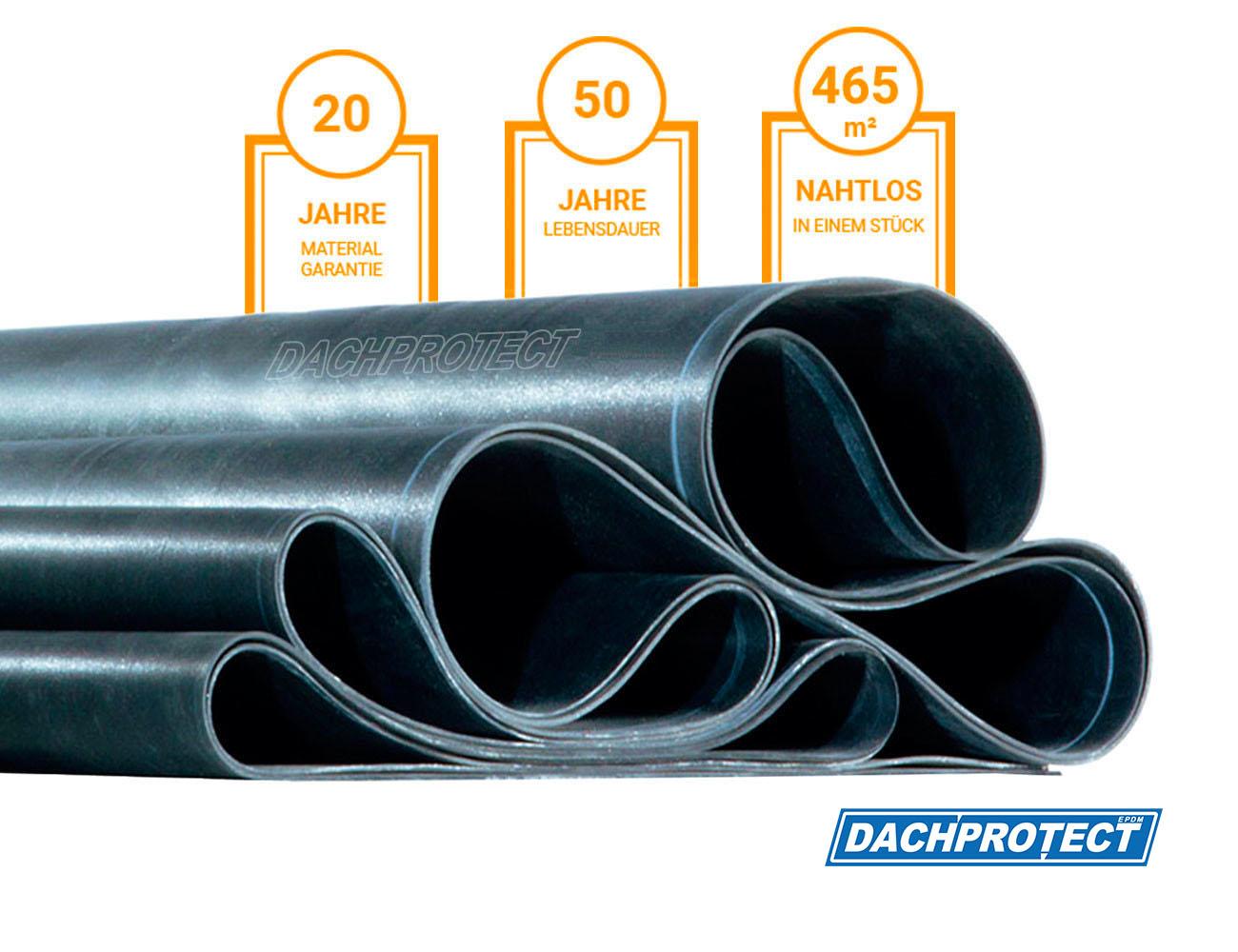 Breite 4,00 m EPDM Dachfolie Material EPDM St/ärke 1,3 mm L/änge 4,50 m