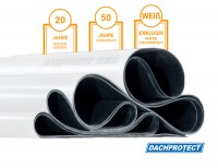 DACHPROTECT EPDM DACHBAHNEN WEISS gemäß Wunschmaß /  im Zuschnitt Variante: 3,05 m Breite |