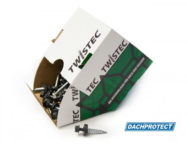 Twistec Trapezblechschraube RAL 7016 (100 Stück) 4,8 x 35 mm inkl. EPDM-Dichtscheibe