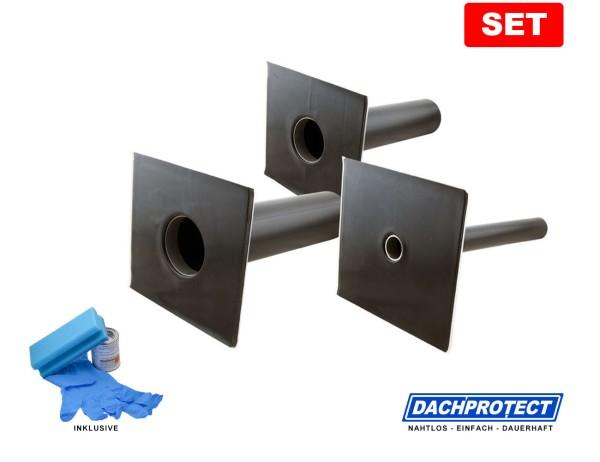 SET: DACHPROTECT Garantie-Seitenablauf (DN 50 - 125 wählbar) inkl. Aktivierung